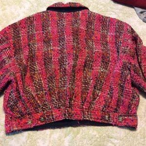 Ungaro Jackets & Coats - Ungaro Pink Tweed Bomber